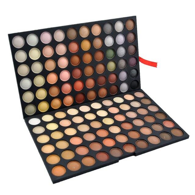 1 conjunto Das Mulheres de Venda Quentes Marca Eyeshadow Pro 120 Full Color Eyeshadow Palette Sombra Cosméticos Make Up Palette