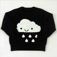 Zima cartoon dziewczynek swetry chmura raindrops swetry z długim rękawem dla dzieci odzież dla dzieci dla dziewczyn dzianina