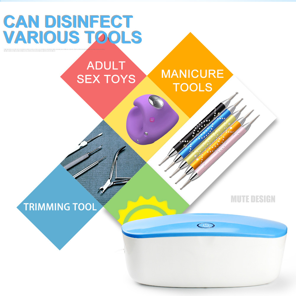 Portable UV Sterilizer Disinfection Box Nail Tool Disinfection Box USB Power Supply Personal Care Disinfection Tool