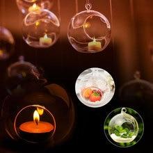 Держатель свечи BAUBLE насадка шар-6 см прозрачный стеклянный держатель подсвечник для домашнего декора круглый свет Свадебный декор