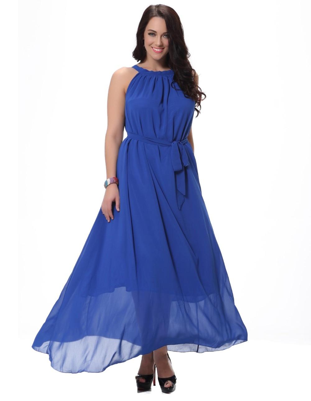f399616fcfad32d Женское летнее платье элегантное вечернее шифоновое платье больших размеров  без рукавов богемное Vestido Playa Vestidos Largos de verano