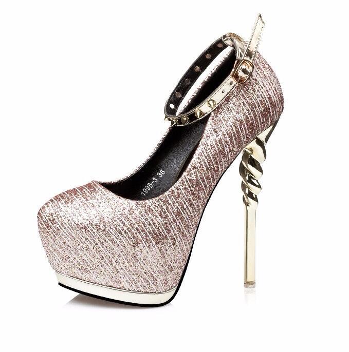 Gold Studded Heels Promotion-Shop for Promotional Gold Studded ...