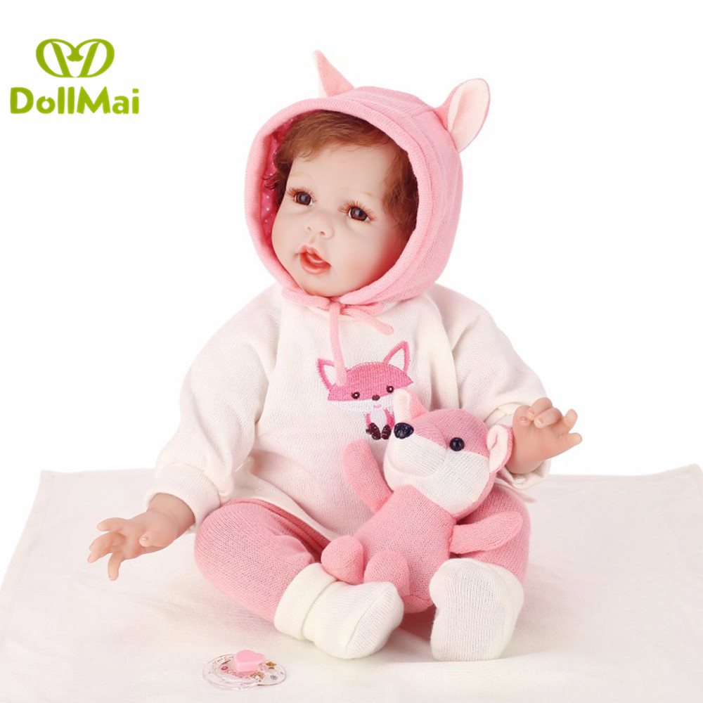 Baby doll reborn 22inch bebes reborn menina silicone reborn baby dolls 55cm soft sleeping toy dolls for children gift boneca reBaby doll reborn 22inch bebes reborn menina silicone reborn baby dolls 55cm soft sleeping toy dolls for children gift boneca re
