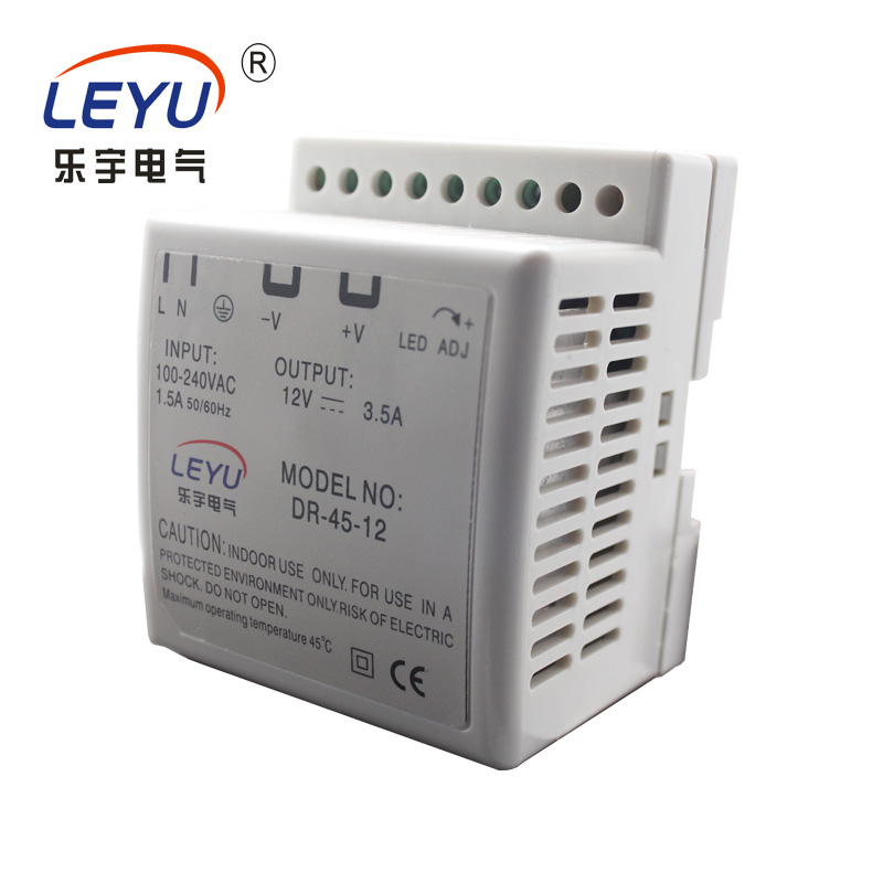 Chinese supplier high quality din rail led driver 45w 12v ac to dc switch mode power supply with CE ROHS ISO9001 CCCC high quality waterproof led driver transformer ce rohs approval ac90 265v to dc20 36v 4500ma 150w led highbay light power supply