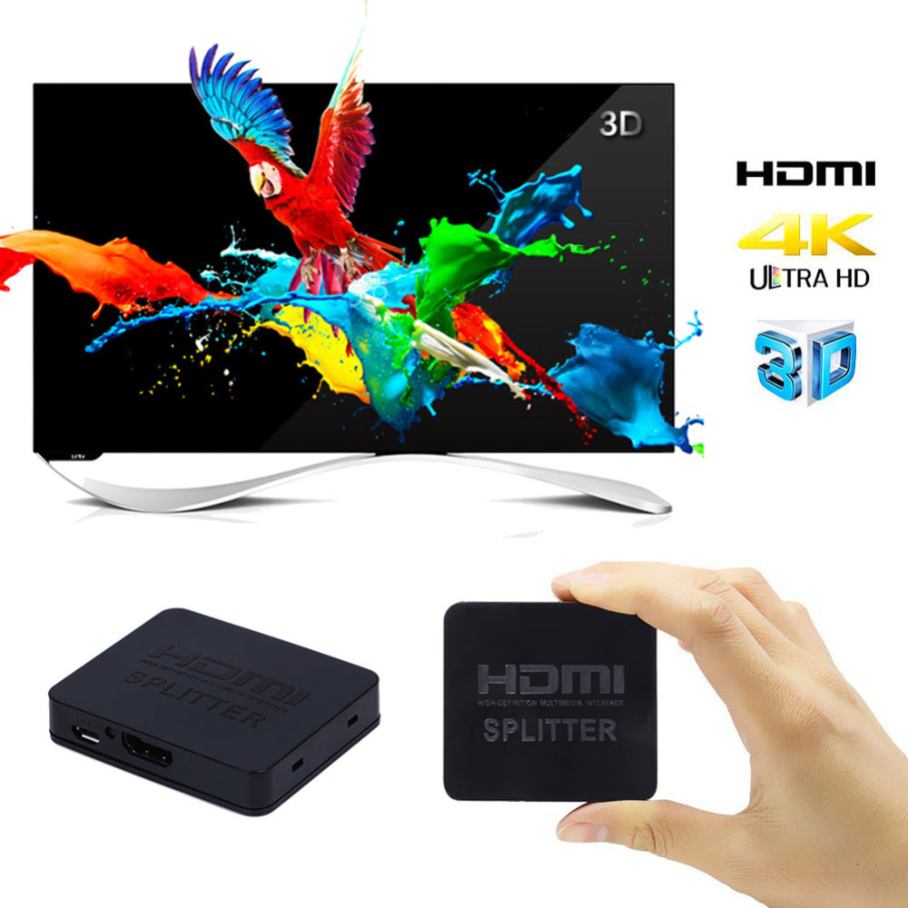 ALLOYSEED Ultra HD 4K HDMI Splitter Switch 1 input 2 Output 1080P Video HDMI Cable Converter Switcher Adapter For Xbox PS3 HDTV hdmi allocator 1 input 2 output one minute two frequency switcher audio and video synchronization 4k hd 2 version