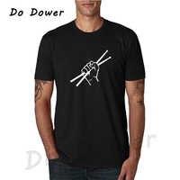 2018 qualidade superior o pescoço tambor baterista t-shirts verão estilo manga curta drumming engraçado t camisa masculina roupas plus size XS-3XL