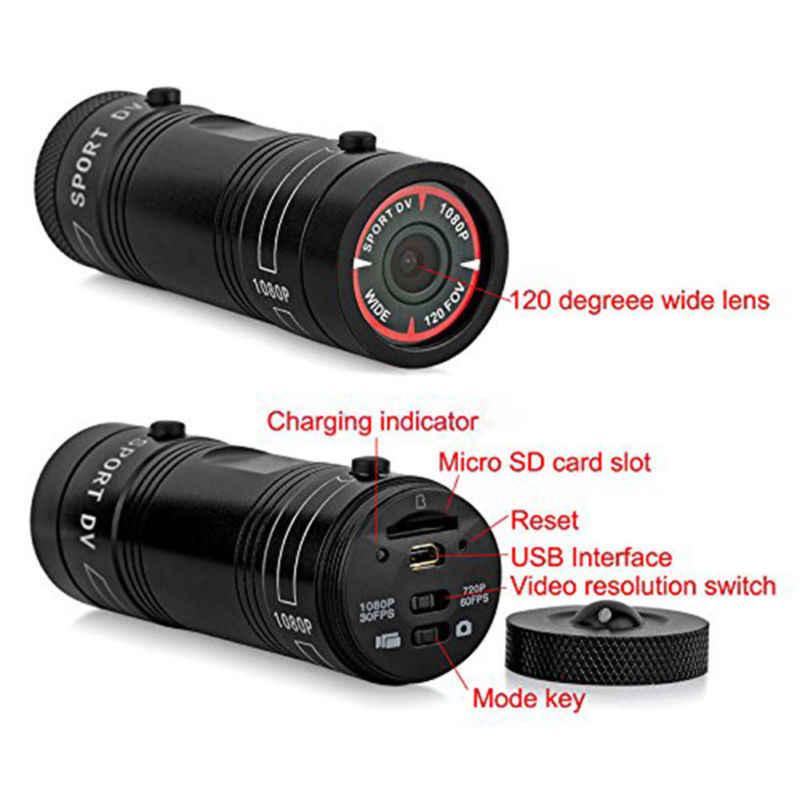 TTKK мини видеокамера F9 HD 1080P мотоциклетный шлем Спортивная мини-камера видеомагнитофон с цифровым видео видеокамера