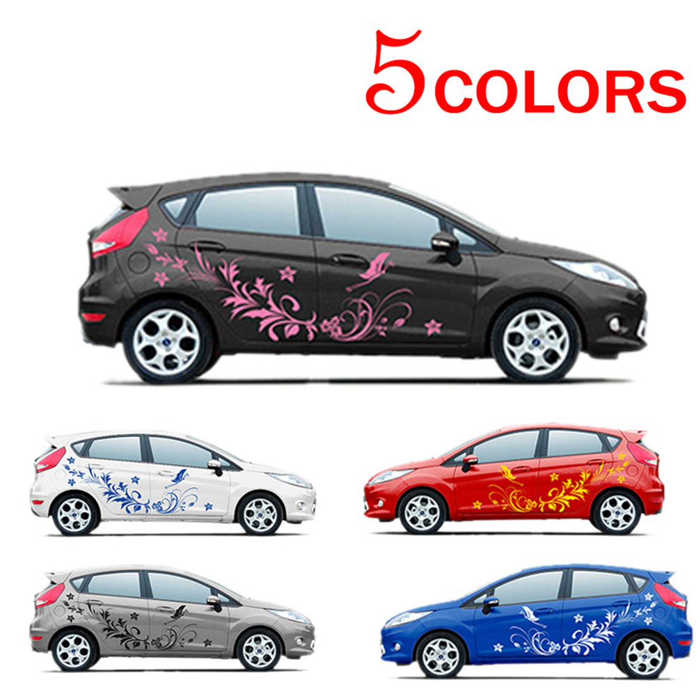 Car sticker flower design - Waterproof Auto Modifield Decal Vinyl Stickers Natural Flower Vine Dragonfly For Whole Car Body China