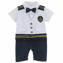 Baby Boys Girls Sailor Costume Navy Romper Toddler Jumpsuit Set