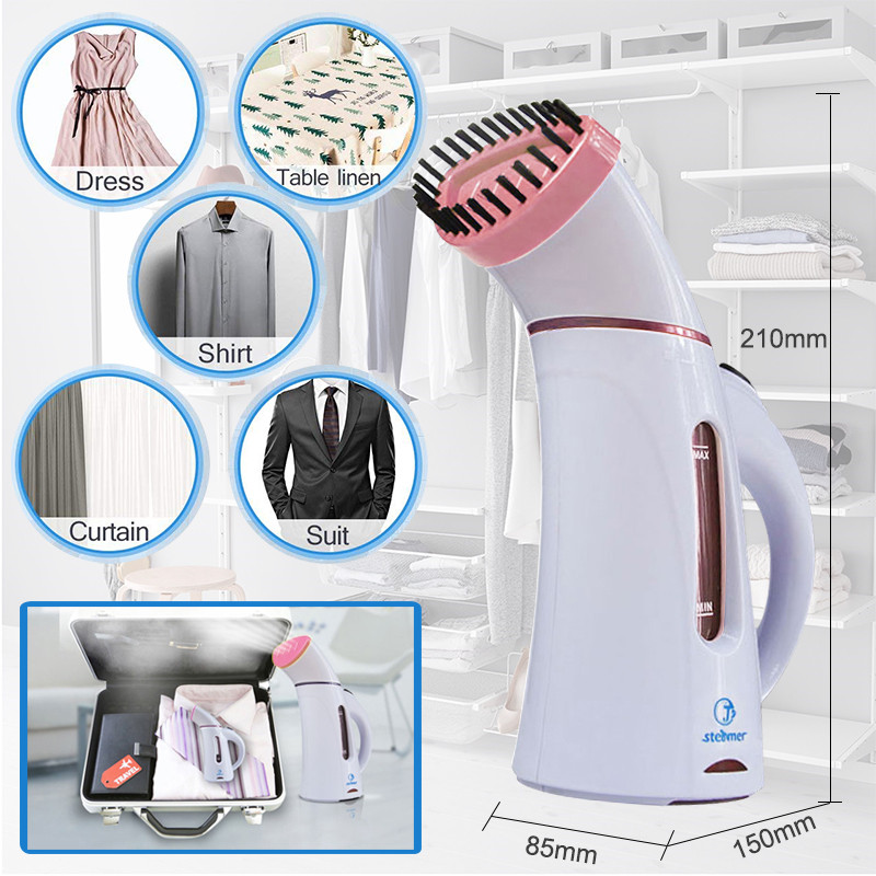Image 4 - 110V 220V Vertical Garment Clothes Steamer with Steam Brush Laundry Appliances Ironing Irons Handheld Steamers Iron Pink-in Garment Steamers from Home Appliances
