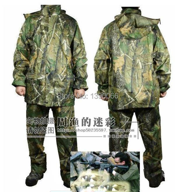 Sniper tactical Camouflage clothing for hunting clothes Ghillie Suit Waterproof Windproof Jacket and Pants raincoat rainwear winter outdoor sports camouflage clothing hunting clothes sniper tactical jacket ghillie suit hunting camping fishing