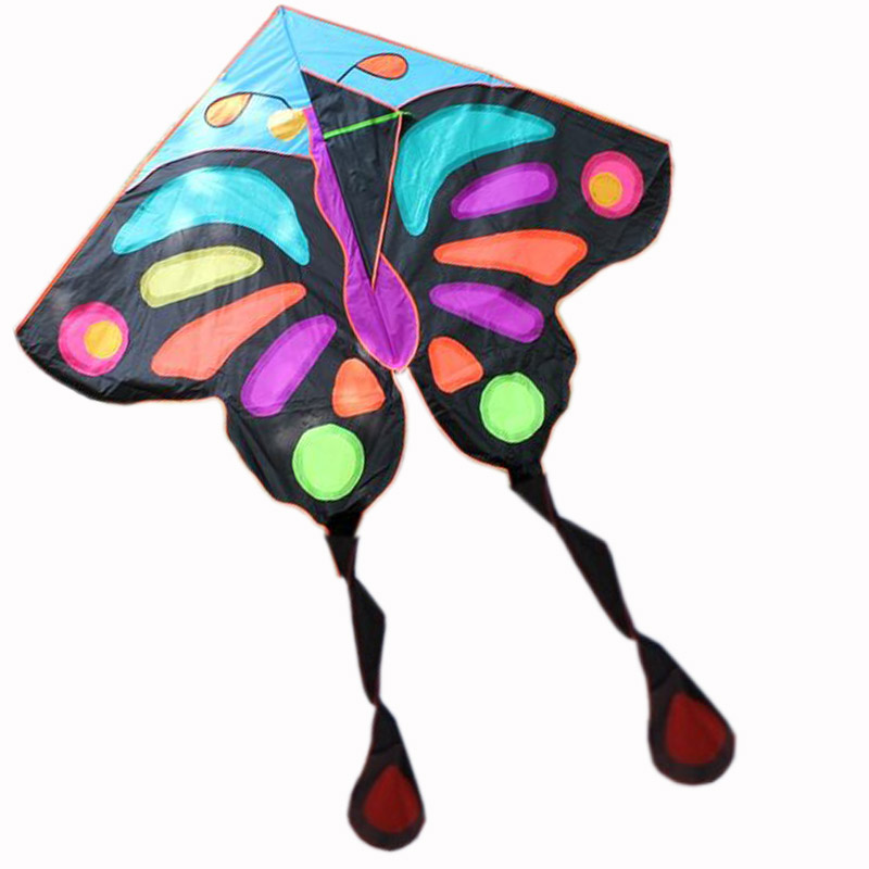 전문 연 뜨거운 판매 예쁜 나비 연 어린이 핸들 연 날리기 나일론 립스틱 대형 연 비행