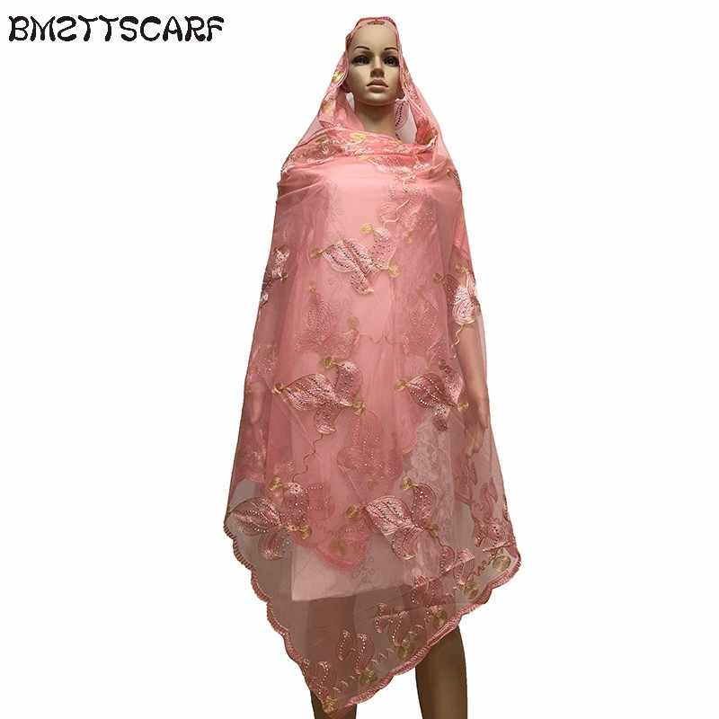 Afrika Wanita Syal Muslim Berdoa Net Syal Transparan Besar Syal untuk Syal Penjualan BM605