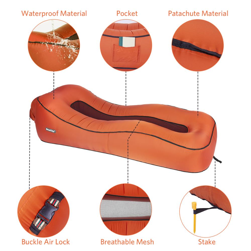 Image 3 - Inflatable Lounger Air Sofa Hammock Portable Waterproof Ideal Couch for Backyard Lakeside Beach Pool Traveling Camping Festival-in Garden Sofas from Furniture