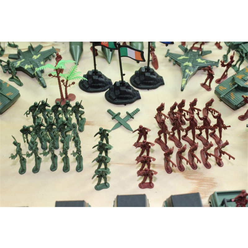 307pcsset Military Plastic Model Toy Soldier Army Men Figures & Accessories Playset Kit Decor Gift Model Toys For Children (5)