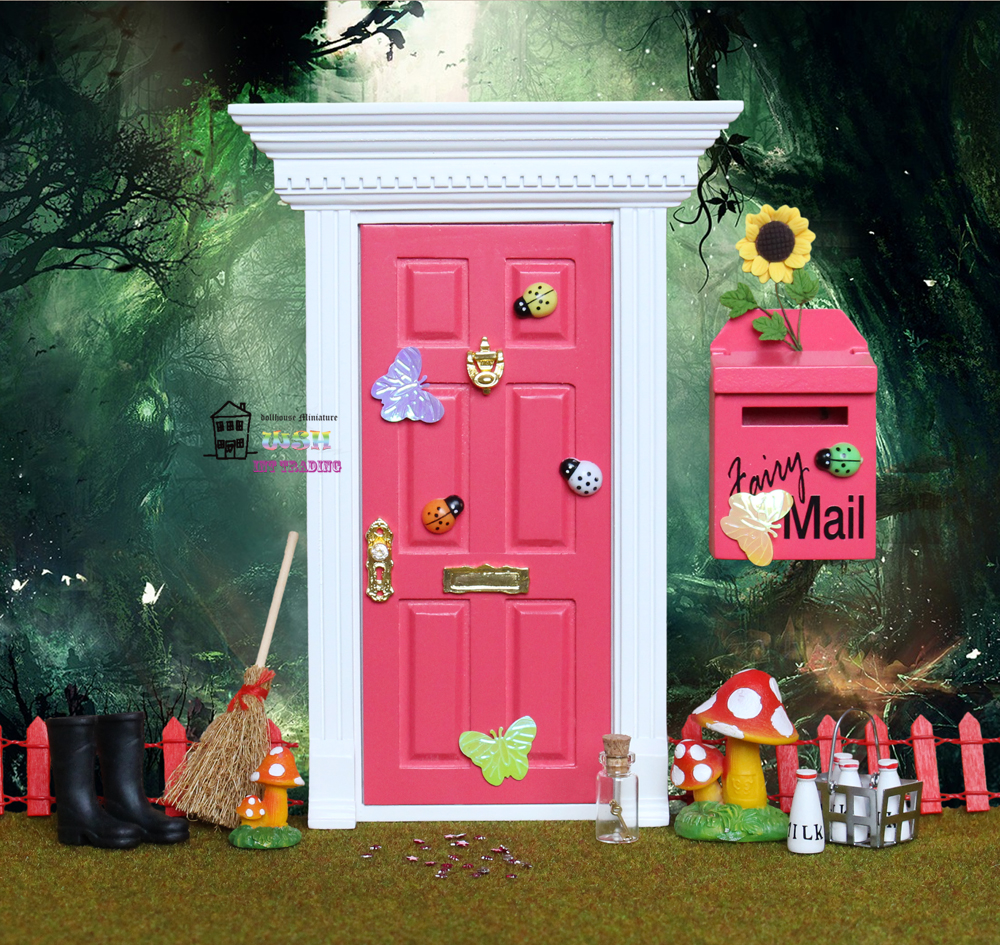 Buy Red Fairy Doors And Get Free Shipping On Aliexpress