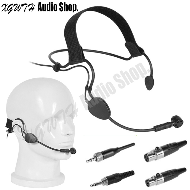 Headset Condenser ME3 Microphone Headworn Mic For AKG Shure Senheiser Audio Technica Wireless Bodypack Transmitter System