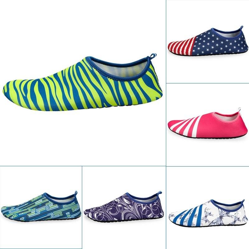Men Woman Unisex Barefoot Skin Sock Striped Shoes Beach Pool Gym Aqua Water Socks Beach Swim Surfing Slippers B2Cshop
