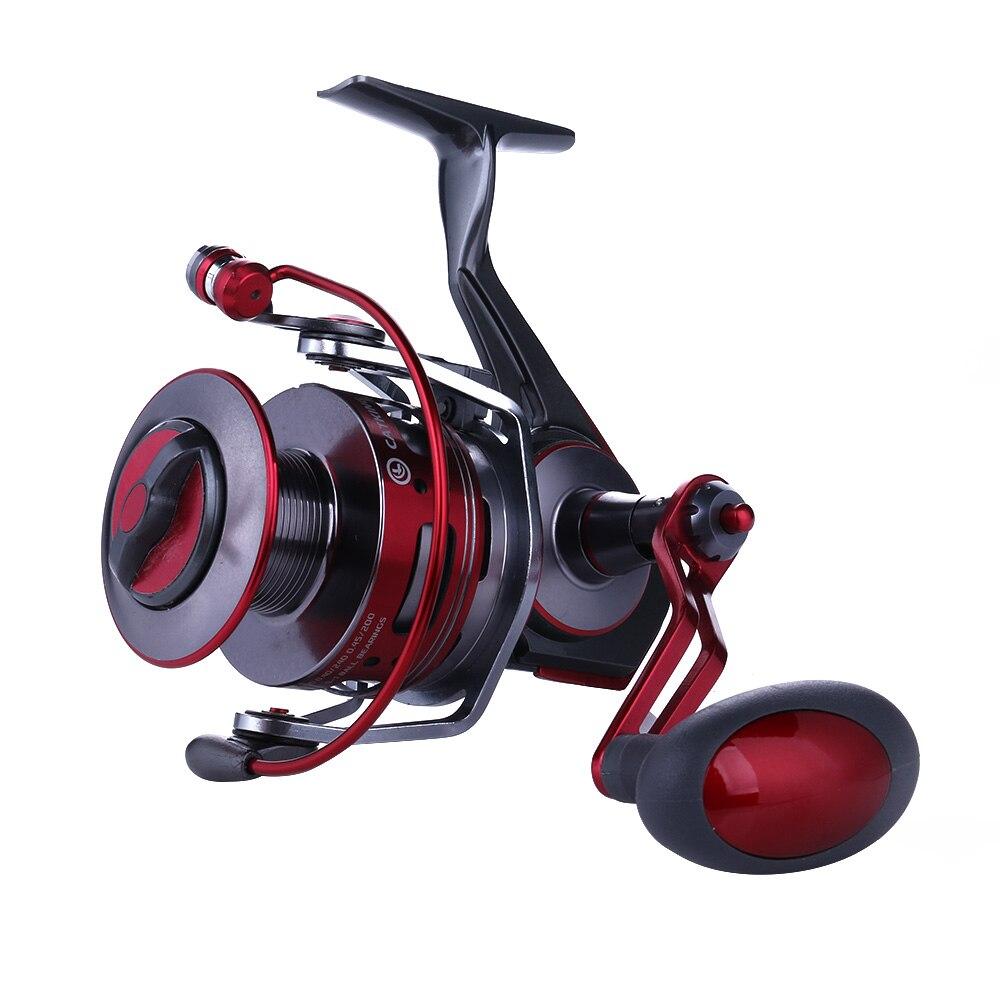 HENGJIA AC5000 ACE6000 Metal Spinning Fishing Reel Fishing Wheel Sea Fishing Tackle 10BB 4.9:1 hiumi mini spinning fishing reel 10bb 5 2 1 ultra light high strength ice fishing wheel