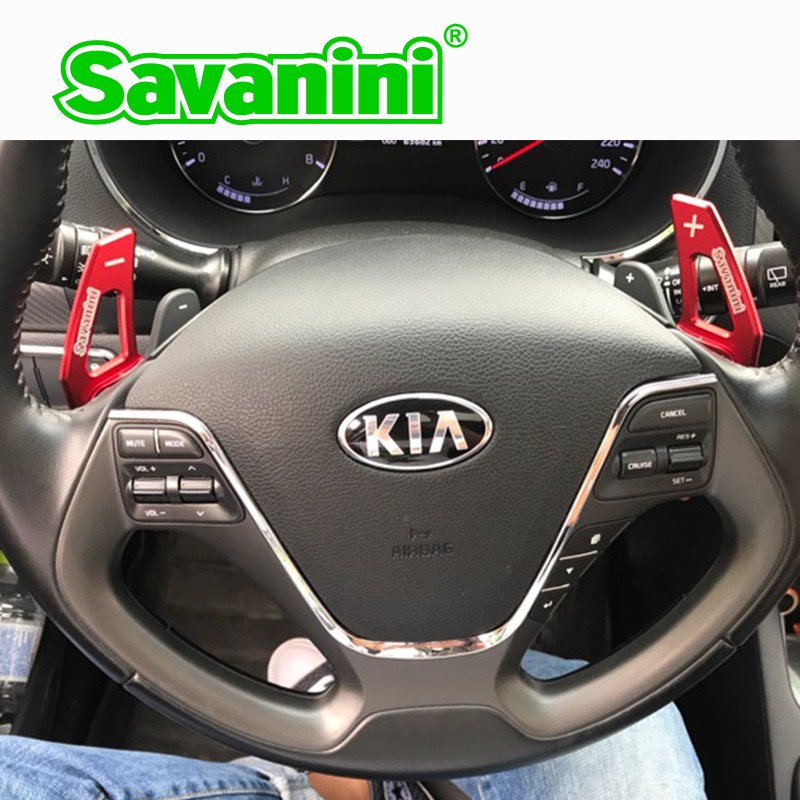 Savanini Aluminum Steering Wheel DSG Shift Paddle Shifter Extension For Kia K3 K3S Auto car Styling