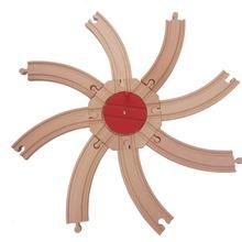 EDWONE Bend Track and Switch Track garaż Staion buk drewniany pociąg kolejowy okrągły tor akcesoria nadające się do Biro tanie tanio Drewna 3 lat Inne Diecast 1 18 TRAIN Educational Model DIY Mini
