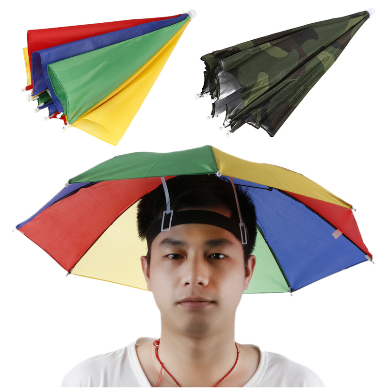 Fishing Cap Sport Umbrella Hat Hiking Beach Camping Headwear Cap Head Hats Camouflage Foldable Sunscreen Shade Umbrella camouflage fishing hat bee keeping insects mosquito net prevention cap mesh fishing cap outdoor sunshade lone neck head cover