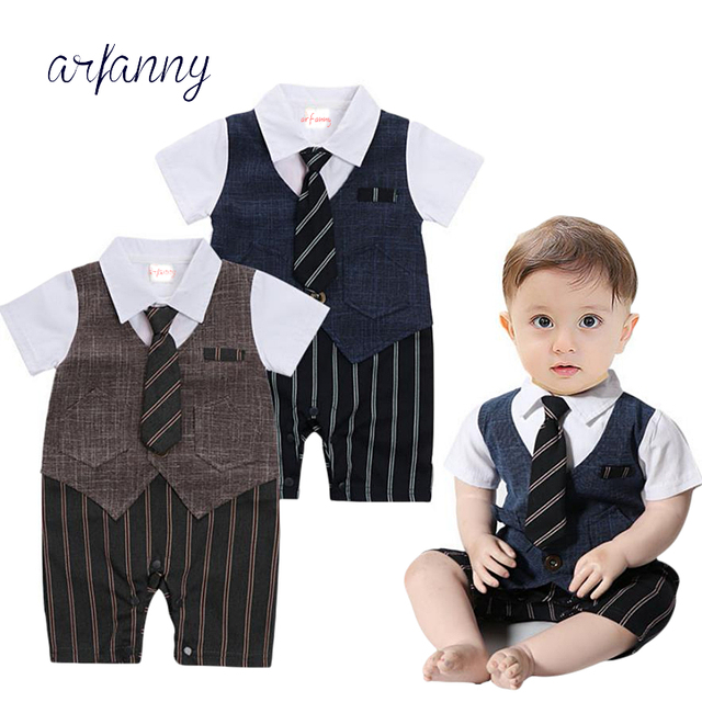 0a2f1803a458 1 year old Baby boy clothes Handsome Summer Newborn 0 3 6 9 12 M ...