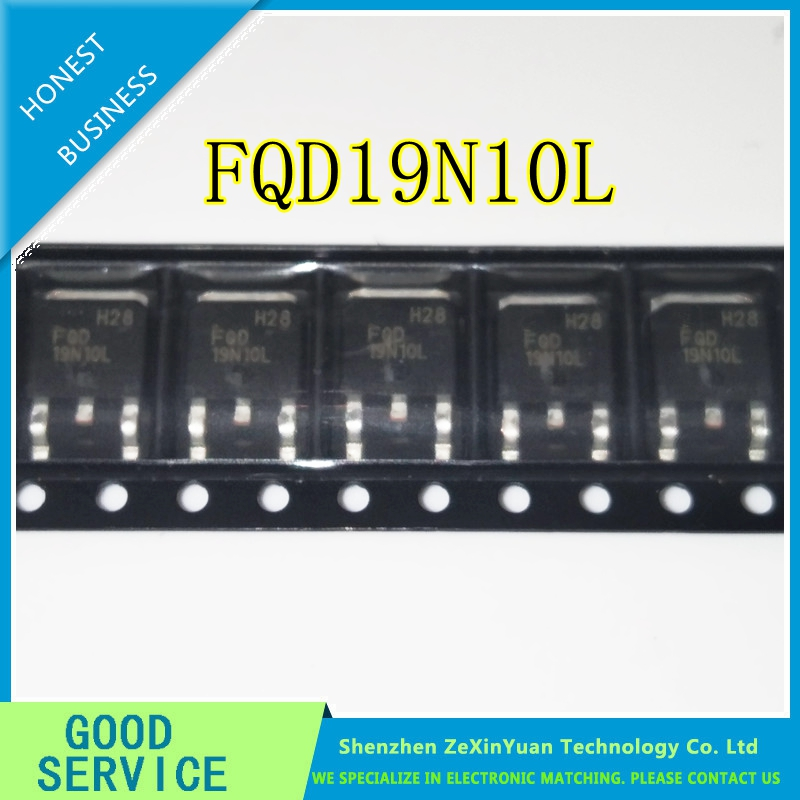 10PCS/LOT FQD19N10L FQD19N10 19N10 15A100V TO-252 PATCH MOS TUBE
