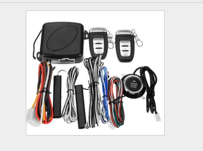 AZGIANT Remote Engine Start Two Way Auto Car Alarm System with LCD Fob Key Chain Two-Way Anti-Theft Device easyguard pke car alarm system remote engine start stop shock sensor push button start stop window rise up automatically
