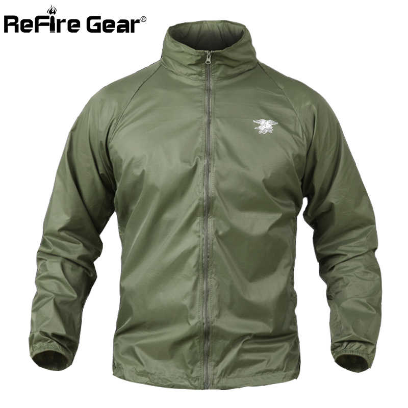 well known better price for up-to-datestyling Summer Tactical Navy Seal Lightweight Camouflage Jacket Men Waterproof Thin  Hood Raincoat Windbreaker Military Army Skin Jackets