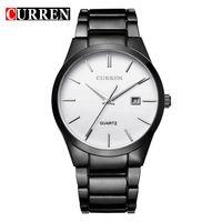Men S Watches Quartz Auto Date Silver Stainless Steel Strap Watch