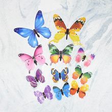 2 packs 3d cute butterfly stickers 12 pieces / bag wallpaper children stickers can be illuminated at night
