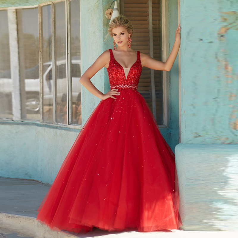 Long Red Sparkly Dresses Promotion-Shop for Promotional Long Red ...