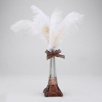 100PCS/Set 20-25CM Beautiful Luxury Style Ostrich Feathers DIY Wedding Party Decorative Celebration Feathers Black/White