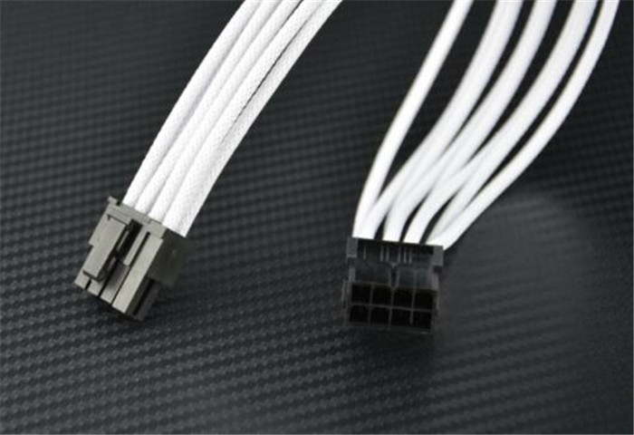 Premium Sleeved UL 1007 18AWG 8 Pin to 6+2 Pin male to female PCI-E Power Extension Cable - White игрушка siku бмв 645i кабриолет 8 9 3 8 2 4см 1007