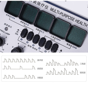 Image 3 - KWD 808 I pulse frequency instrument, Multi Purpose Health Care, Acupuncture Meridian Detect Acupoints 6 Output Patch Massager