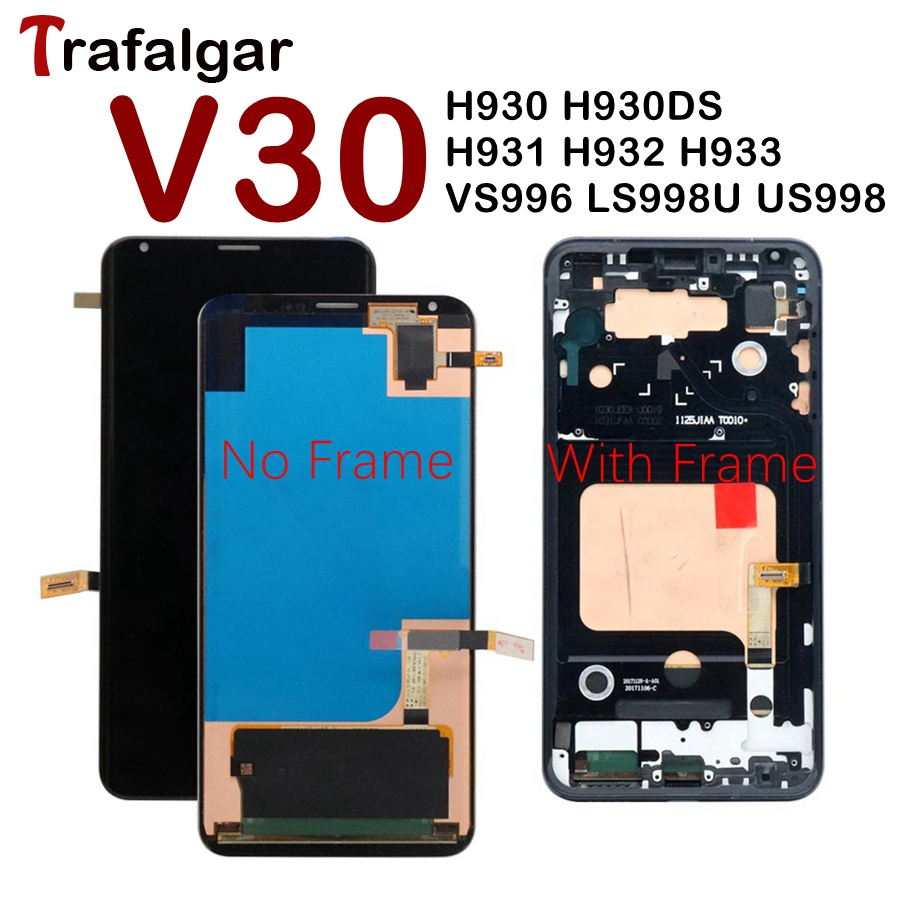 For 6 0 LG V30 LCD Display Touch Screen Digitizer Assembly For LG V30 LCD With