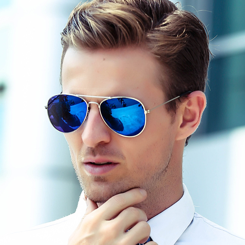 96863dbef23 Cubojue Mens Sunglasses Aviation Women Mirrored Classic Design Anti  Reflective Colorful Lens Sun Glasses for Man