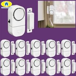Golden Security 10Pcs 90dB Wireless Home Window Door Burglar Security Alarm System Magnetic Sensor for Home Security System