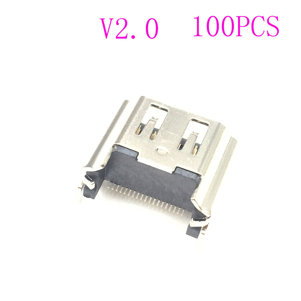 100PCS Replacement For Play Station 4 PS4 HDMI Port Socket Interface Connector CUH-1001A CUH-1115A
