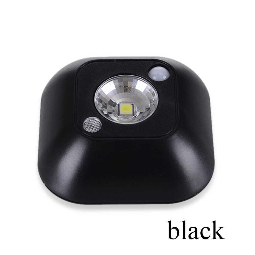 CANSHOU светодиодный ночной Светильник Двойной индукции инфракрасный датчик движения из pir лампы Магнитный инфракрасный шкаф лестницы Светильник аварийный светильник s