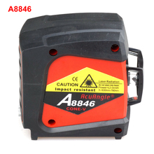 ACUANGLE A8846 4 Lines 360 Degrees Red Line Laser Level Wall Meter Gravity Leveling Instrument Auto Self-Levelling