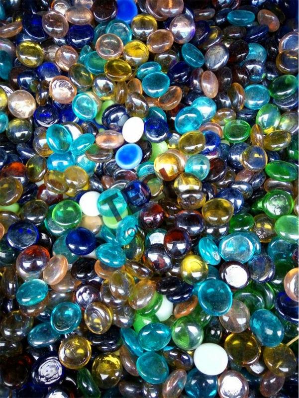 ročni stekleni kamniti stekleni marmorji dekorativne akvarijske steklene kroglice