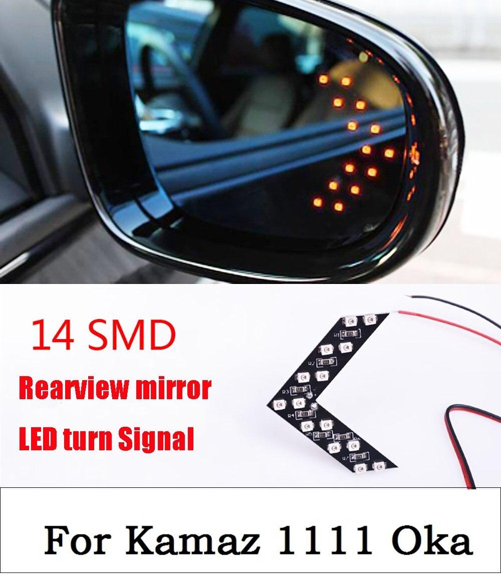 Новый 2017 автомобилей Стайлинг Новый 2 предмета 14 SMD СВЕТОДИОДНЫЙ стрелка Панель для автомобилей зеркало заднего вида Индикатор указатель по...