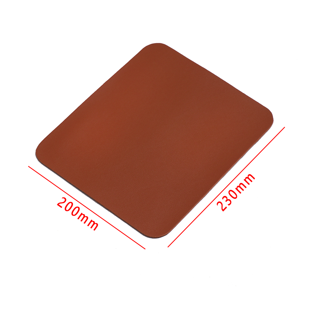 Anti-slip Mouse Pad Leather Mice Mat Desk Cushion Useful For Laptop PC Mac-book~