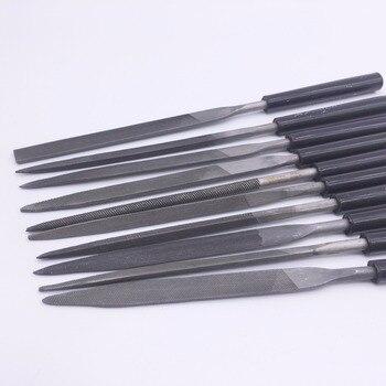 Wkooa zestaw pilników igłowych pliki do metalu szkła biżuteria z kamienia rzeźbione w drewnie DIY 10 sztuk