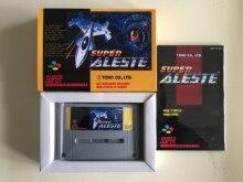 16 비트 게임 ** super aleste (프랑스어 언어 pal 버전!! 상자 + 수동 + 카트리지!!)