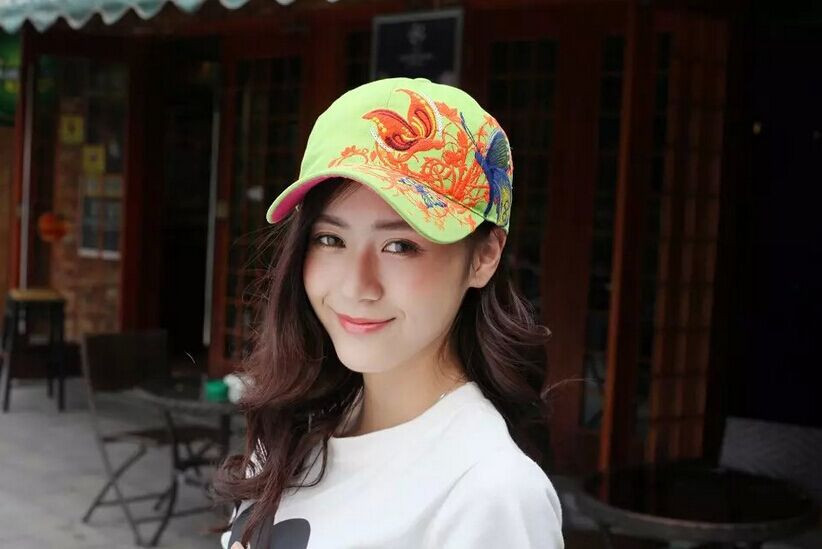 1 шт. 2017New модные с вышивкой в виде бабочек и летняя кепка-бейсболка Стиль женский рюкзак шляпу 7 цветов