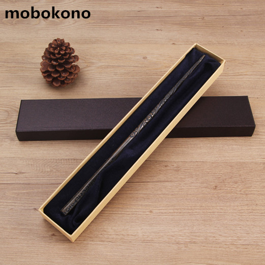 mobokono New Metal Core Sirius Black Magic Wand High Quality Gift Box Packing