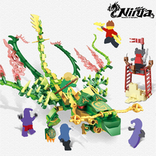 396pcs Ninja Dragon Knight Lloyd With Green Dragon Building Blocks Toys Compatible Brand Ninja Bricks With Figures For Kids